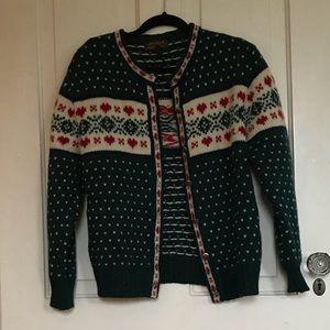 Eddie Bauer Sweaters - Vintage 1989 Eddie Bauer Wool Cardigan Green L